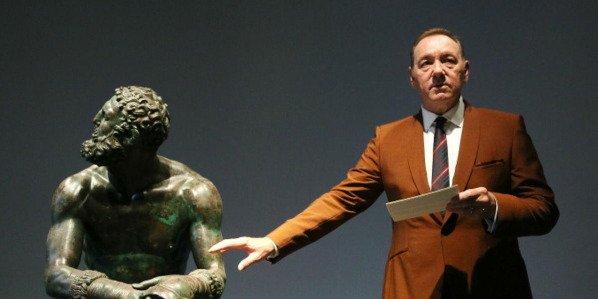 Kevin Spacey poesía Museo Nacional Romano viernes Boxeador aparición en público