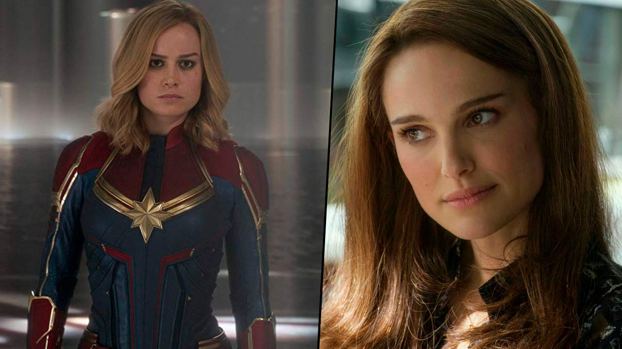 Brie Larson y Natalie Portman peleando por el martillo de Thor