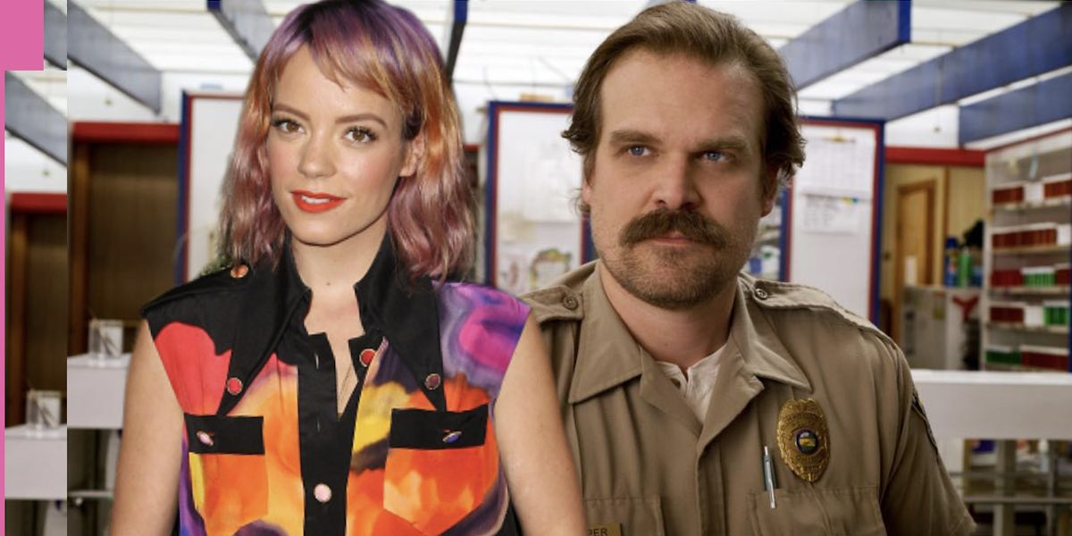 stranger things david harbour novia lily allen disney foto