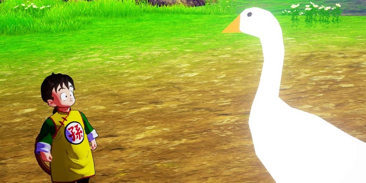 dragon ball z kakarot mod untitled goose game goku ganso