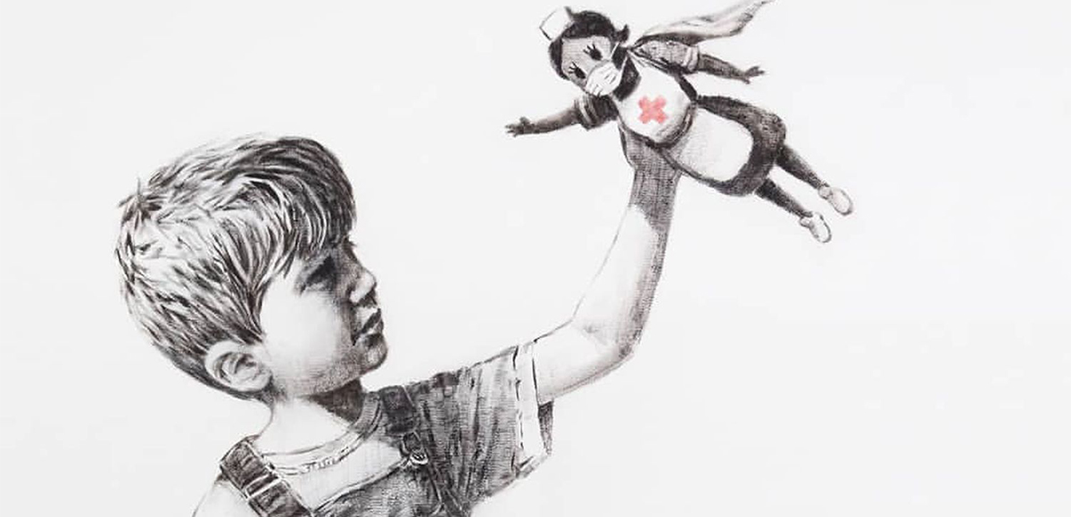 Banksy decidió homenajear al personal de salud que lucha contra el coronavirus